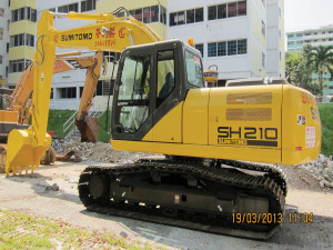 Sumitomo SH210-5 Excavator - Excavators for Rent | leonghinseng.com.sg