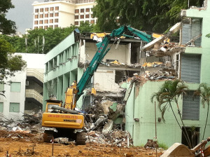 Nassim Road (Former Tanglin Police Station) - Building Demolition Work
